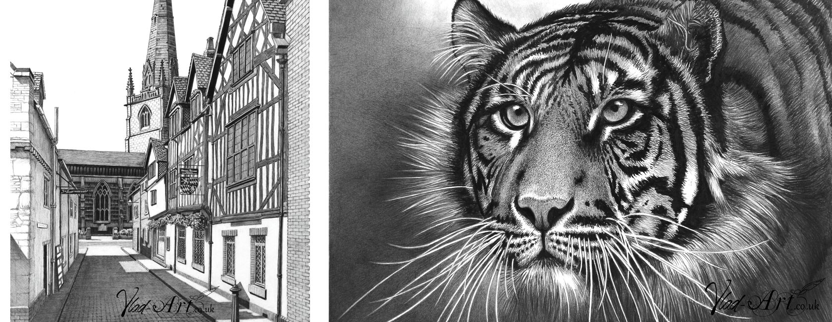 Limited Edition Pencil Drawings