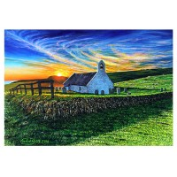 Mwnt chapel at dawn