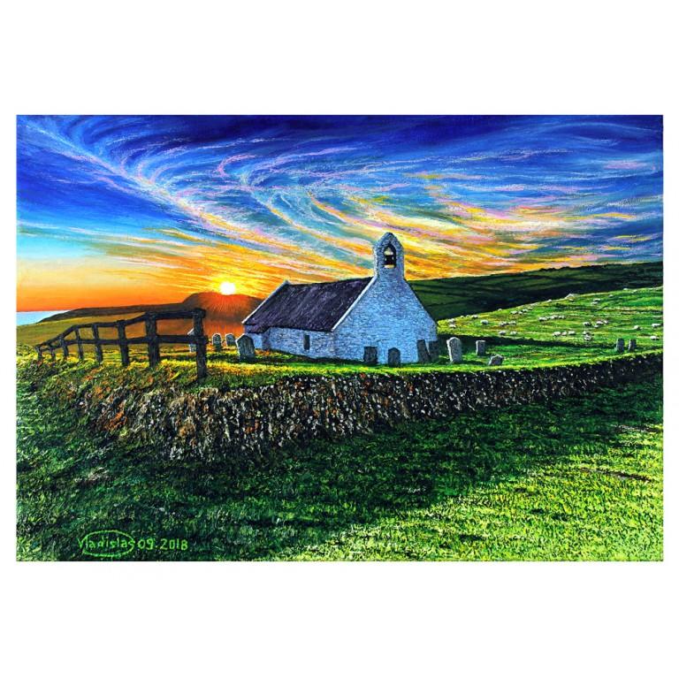 Mwnt chapel at dawn