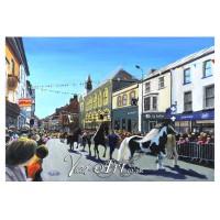 Welsh cob parade at Barley Saturday, Cardigan