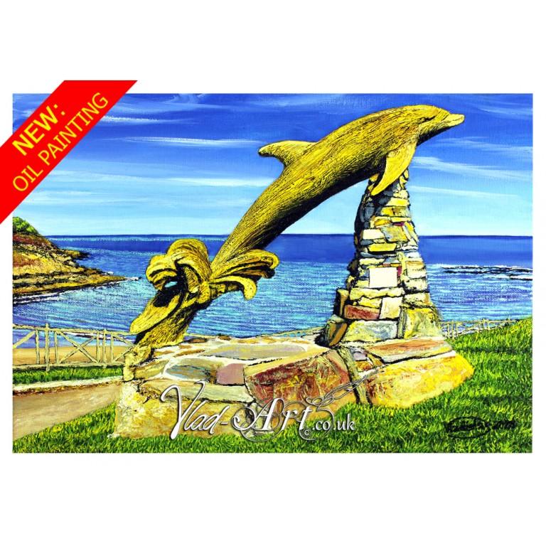 Aberporth Dolphin sculpture