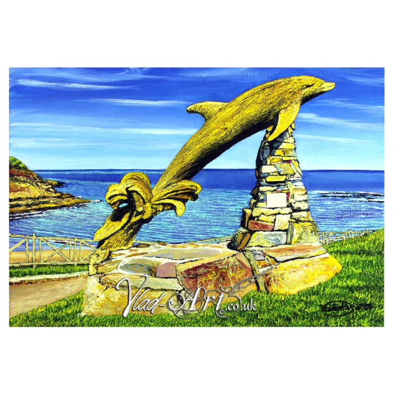 Aberporth Dolphin sculpture