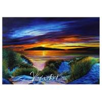 Sunset in Poppit sand dunes