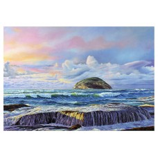Ailsa Craig on stormy day